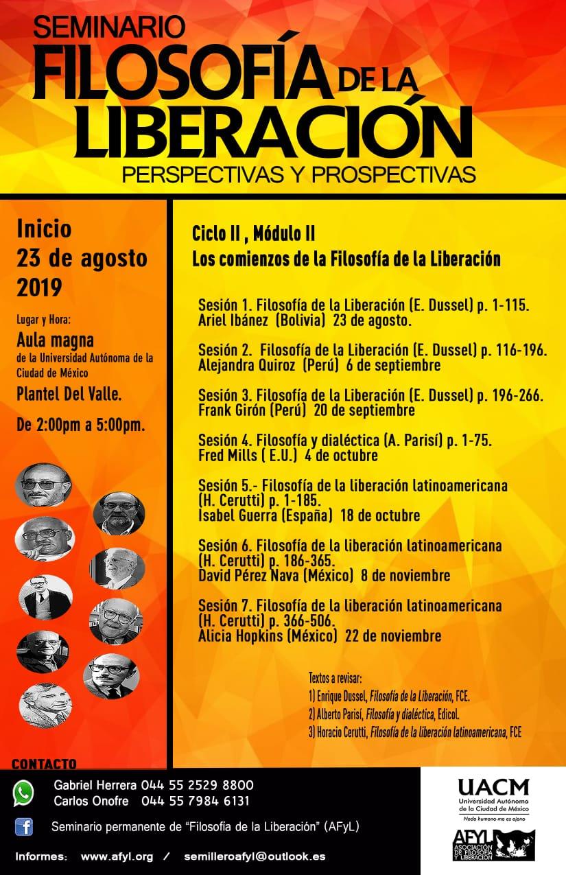Seminario Filosofía de la Liberación: Perspectivas y Prospectivas